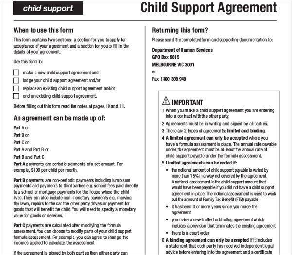 child support application form nz