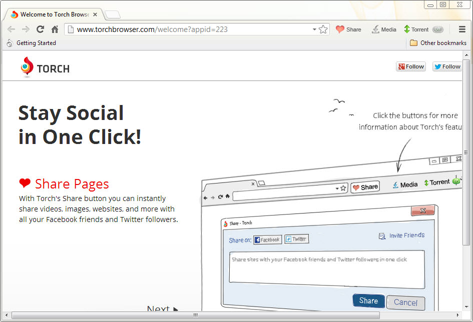 launch application from browser chrome