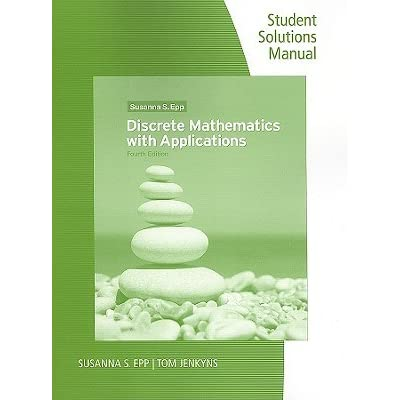 discrete mathematics with applications solutions