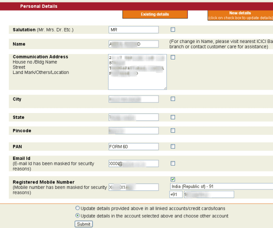 bank of india net banking application form online