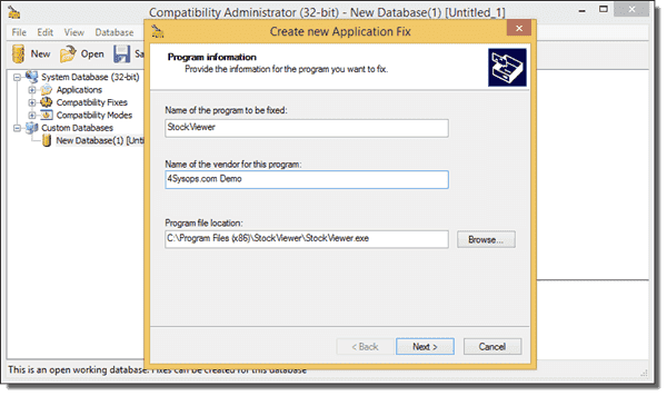 how to use microsoft application compatibility toolkit