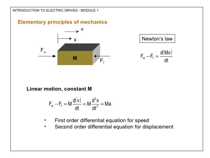 application of second order linear differential equation
