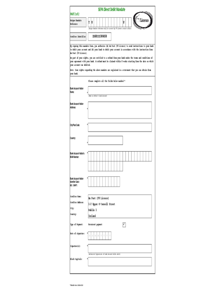 form of application for applying fire licence