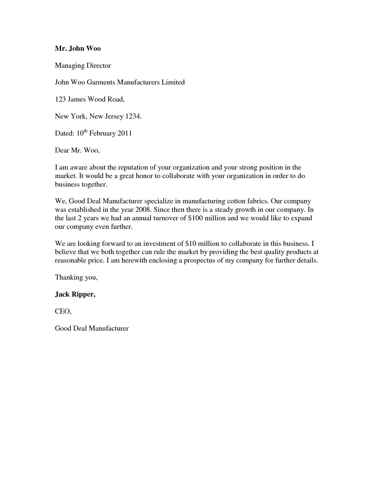 simple cover letter for job application examples