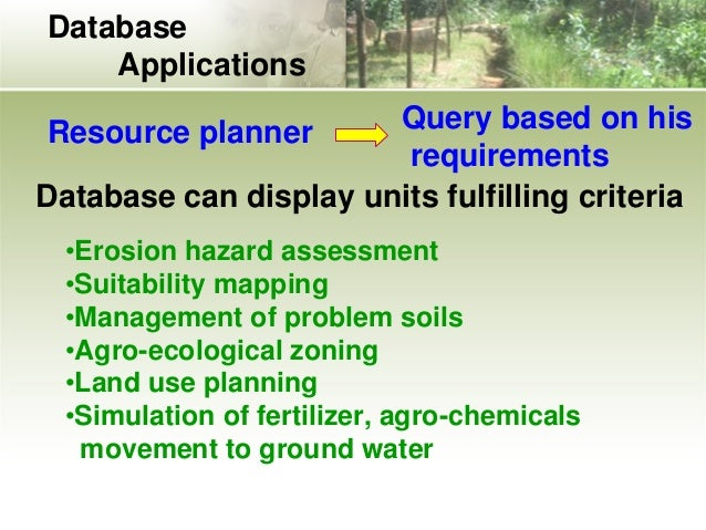 uses and application of soil survey